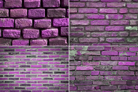 groupings: texture brick wall, set Stock Photo