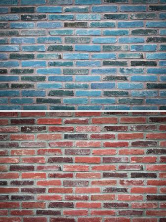 groupings: texture brick wall, set Stock Photo