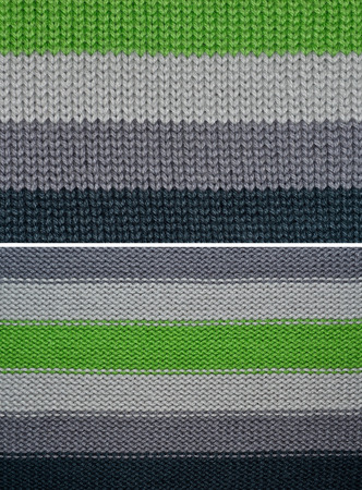 Set Knitted wool texture background photo