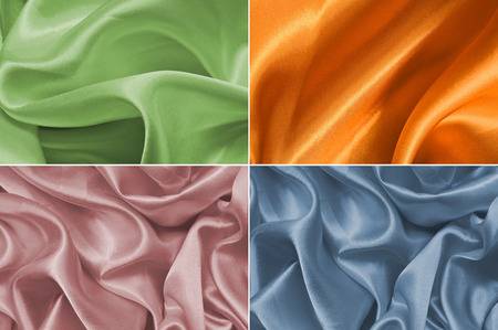 Set satin fabric texture background photo