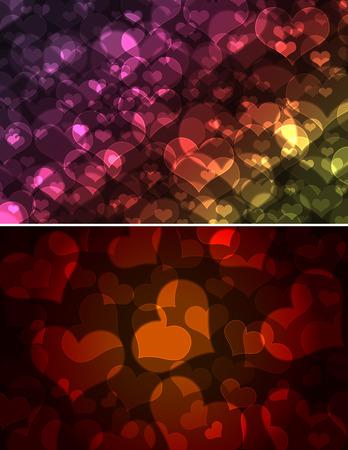 groupings: cuori bokeh, giorno di San Valentino sfondo