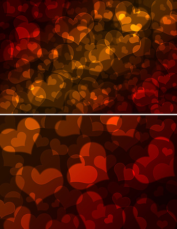 groupings: hearts bokeh, Valentines day background