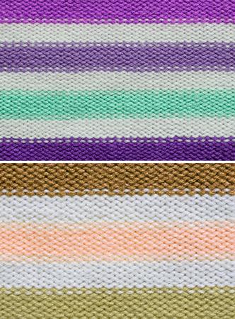 groupings: Set di lana lavorata a maglia texture di sfondo