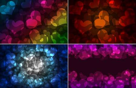 hearts bokeh, Valentines day background photo