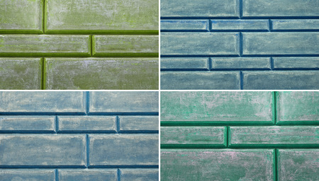 groupings: Weathered old stucco wall, close up background, texture Stock Photo