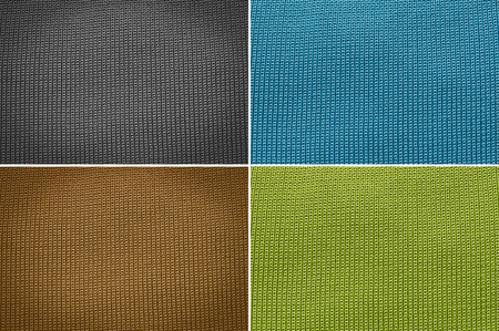 groupings: Set Knitted wool texture background Stock Photo