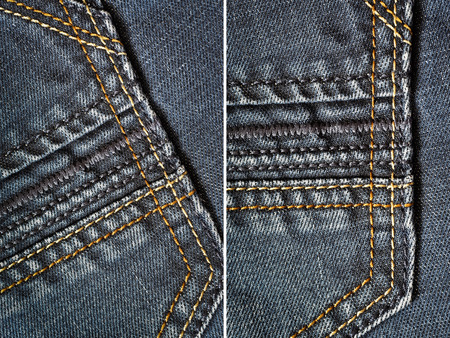 stapled: Jeans fabric texture background