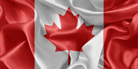 canadian state flag: Canadian satin flag Stock Photo