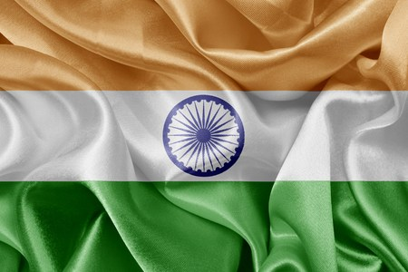 flag background: Indian satin flag Stock Photo