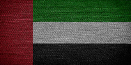 united arab emirates: United Arab Emirates fabric flags Stock Photo