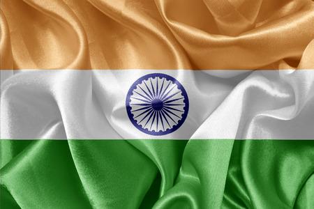 bandera de la india: Bandera de sat�n india