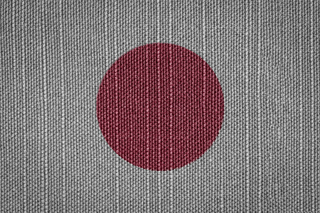 japanese flag: Cloth Japanese flag Stock Photo