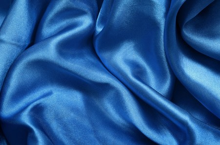 Texture blue satin, silk background