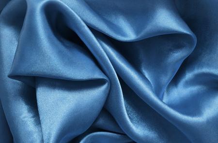 blue satin: Texture blue satin, silk background