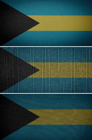 bahamian: textile flags Bahamas