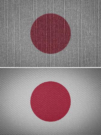 bandera japon: Pa�o conjunto de bandera japonesa