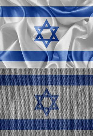 israeli: Israeli fabric flags, set