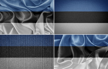 estonian: Estonian textile flags