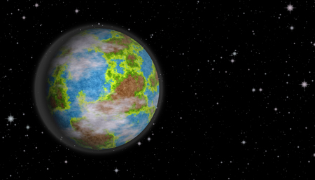 spacial: Planet earth surrounded by the stars Stock Photo