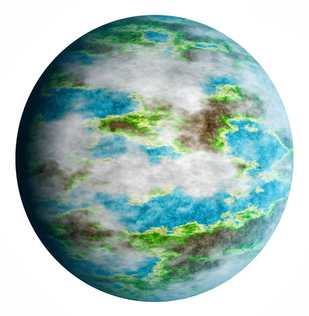 spacial: Planet earth isolated on a white background