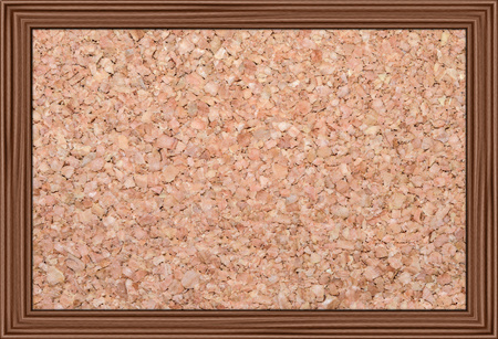 bulletin: cork bulletin board in a wooden frame, isolated Stock Photo