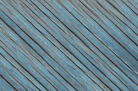 Wood texture. Lining boards wall. Wooden background pattern. Showing growth rings. Blue Colour
