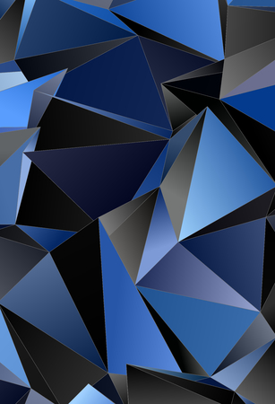 Abstract Low-Poly background. triangulated texture. Design 3d. Polygonal geometrical pattern. Triangular modern style Stock Photo
