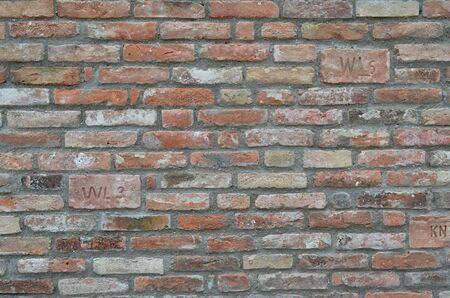 old color brick wall texture background Zdjęcie Seryjne - 141800284