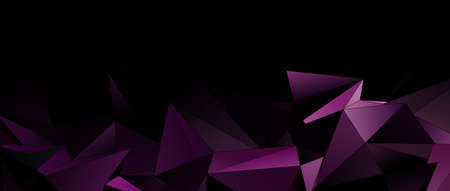 3d Triangles, abstract background. Design wallpaper. Banque d'images