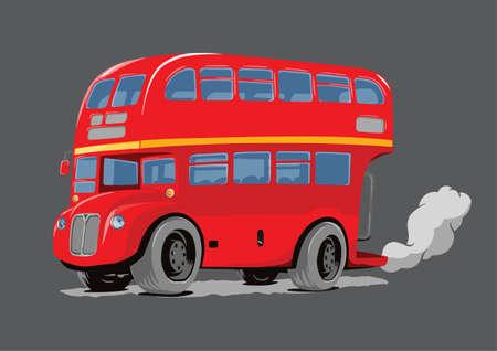 london bus: London Bus Double Decker Hand Drawn Style Illustration