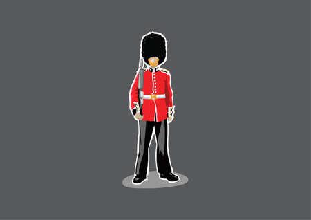 hand guard: London Royal Guard Hand Drawn Style Illustration Illustration