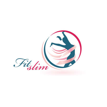 Fit Slim Dance Logo Vector