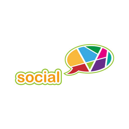 Social Chat Group Logo Vector Illustration