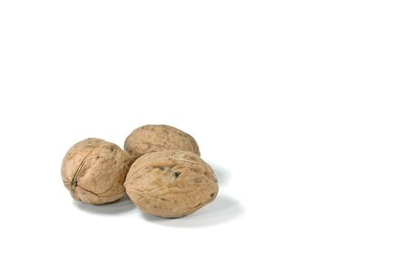 Photo de 3 Nuts Le Isoleted White Background