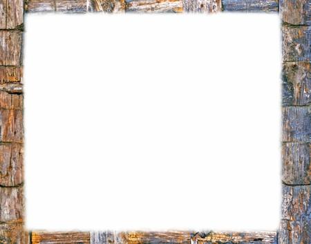 Cadre en bois, d'apparence naturelle Banque d'images