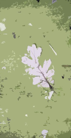 Grunge background with a leaf middle of it Stock Photo - 4341921