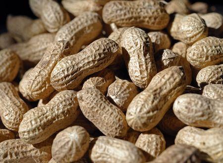 Peanuts macro Stock Photo