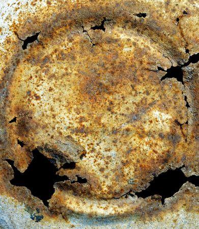 Cracked Rusty metal  Stock Photo