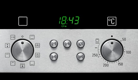 knobs: Oven Settings Stock Photo