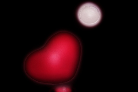 3D Heart Shape with reflection and Moon