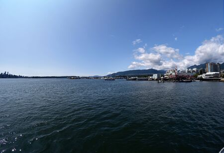 A fisheye view of Lonsdale Quay. North Vancouver BC Canada