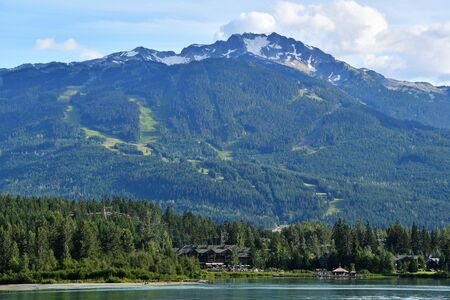 A View of Whistler Mt. ski area. summer BC Canada