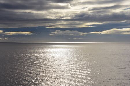 A view of the sea on a cloudy morning. BC Canada Stock fotó