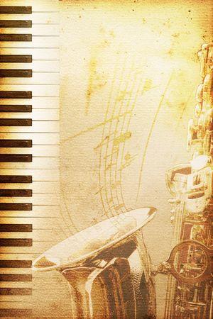 jazz background: old mouldy blues or jazz background Stock Photo