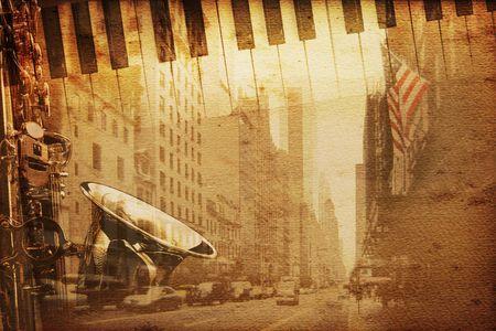 broadway: historischen Hintergrund mit New York Broadway