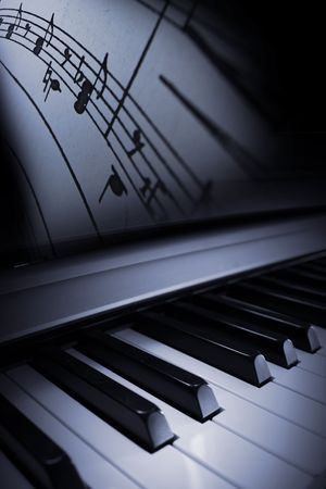 elegant nice piano blues or jazz background photo