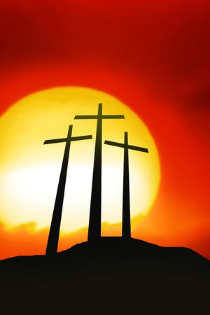 golgotha: The Crosses Stock Photo