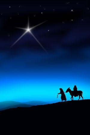 geburt jesu: Alle dem Weg von Nazareth nach Bethlehem Lizenzfreie Bilder
