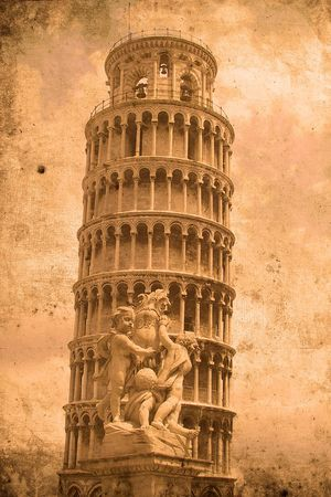 mangy: Retro look of the Tower of Pisa