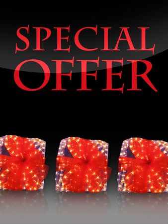 discounting: Nice lighted Presents in the christmas time with special offer